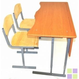 Стол +2 стула (фигурная столешница)