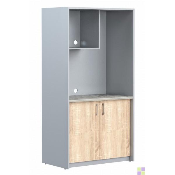 SCB 120 мини-кухня Дуб Сонома светлый/Металлик