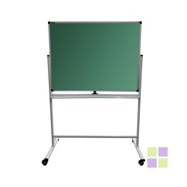 90х120 см Для мела и маркера НА СТЕНДЕ, 2-сторонняя, зеленая/белая