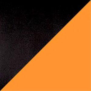 Экокожа комбинированный черный/оранжевый