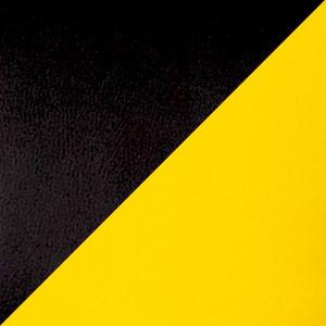 Экокожа комбинированный черный/желтый