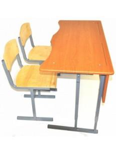 Стол+2 стула с фигурной столешницей