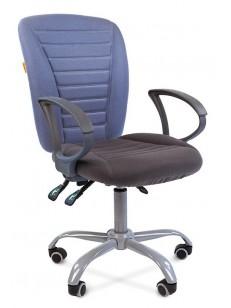 CHAIRMAN 9801 ERGO (Комбинированная ткань стандарт 10-141 голубая/10-128 серая)