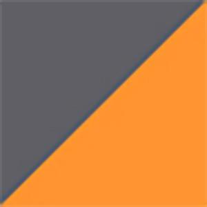Экокожа комбинированная серый/оранжевый