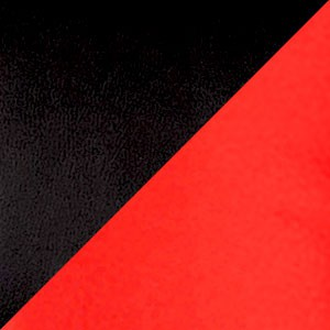 Экокожа комбинированный черный/красный