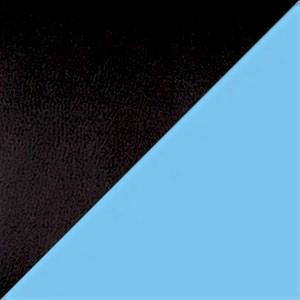 Экокожа комбинированный черный/голубой